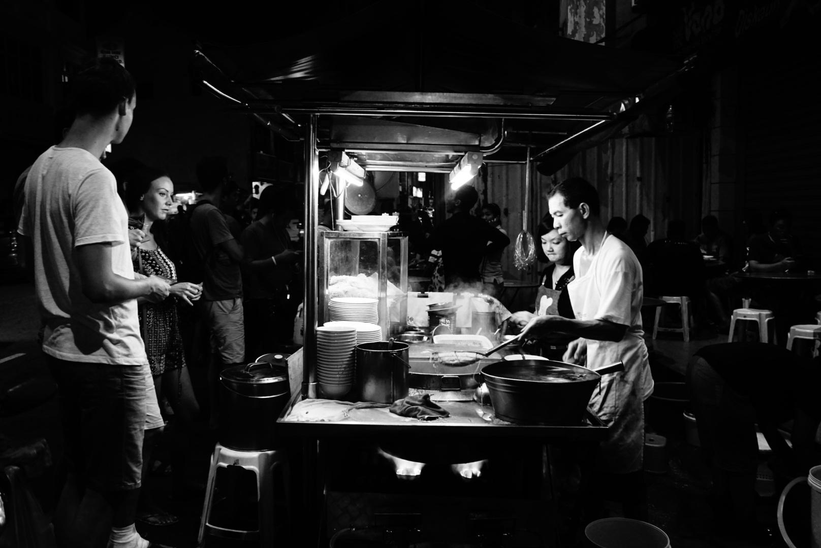 Penang Street Food Vendor Noodles
