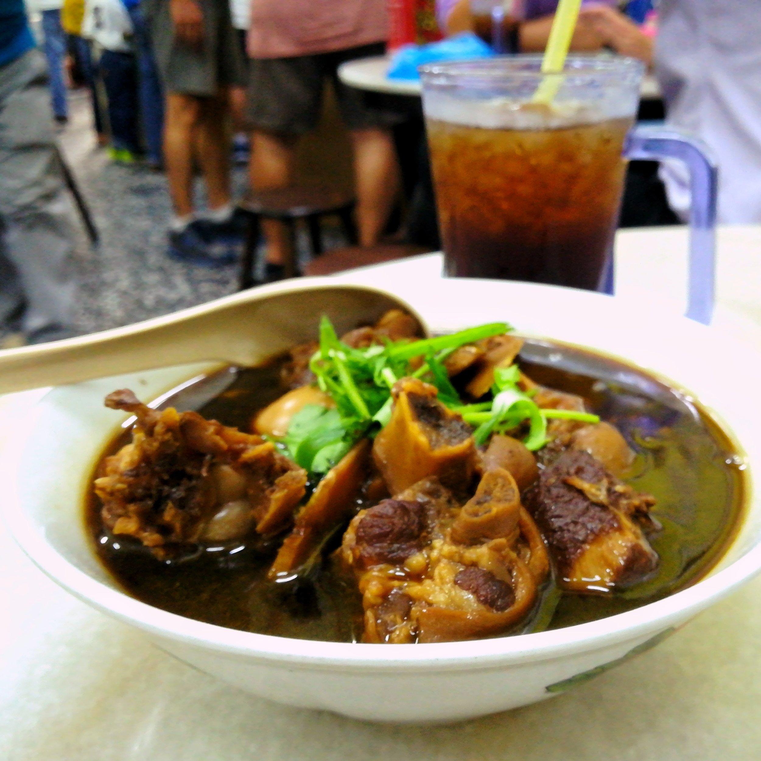 hop penang pork trotters vinegar traditional dish food