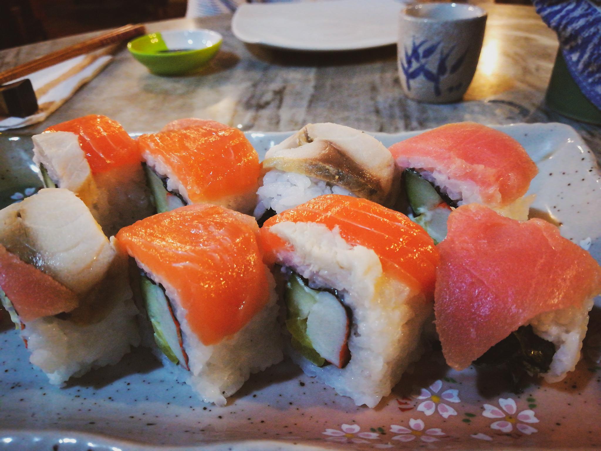 japanese food penang isaribi rainbow maki sushi