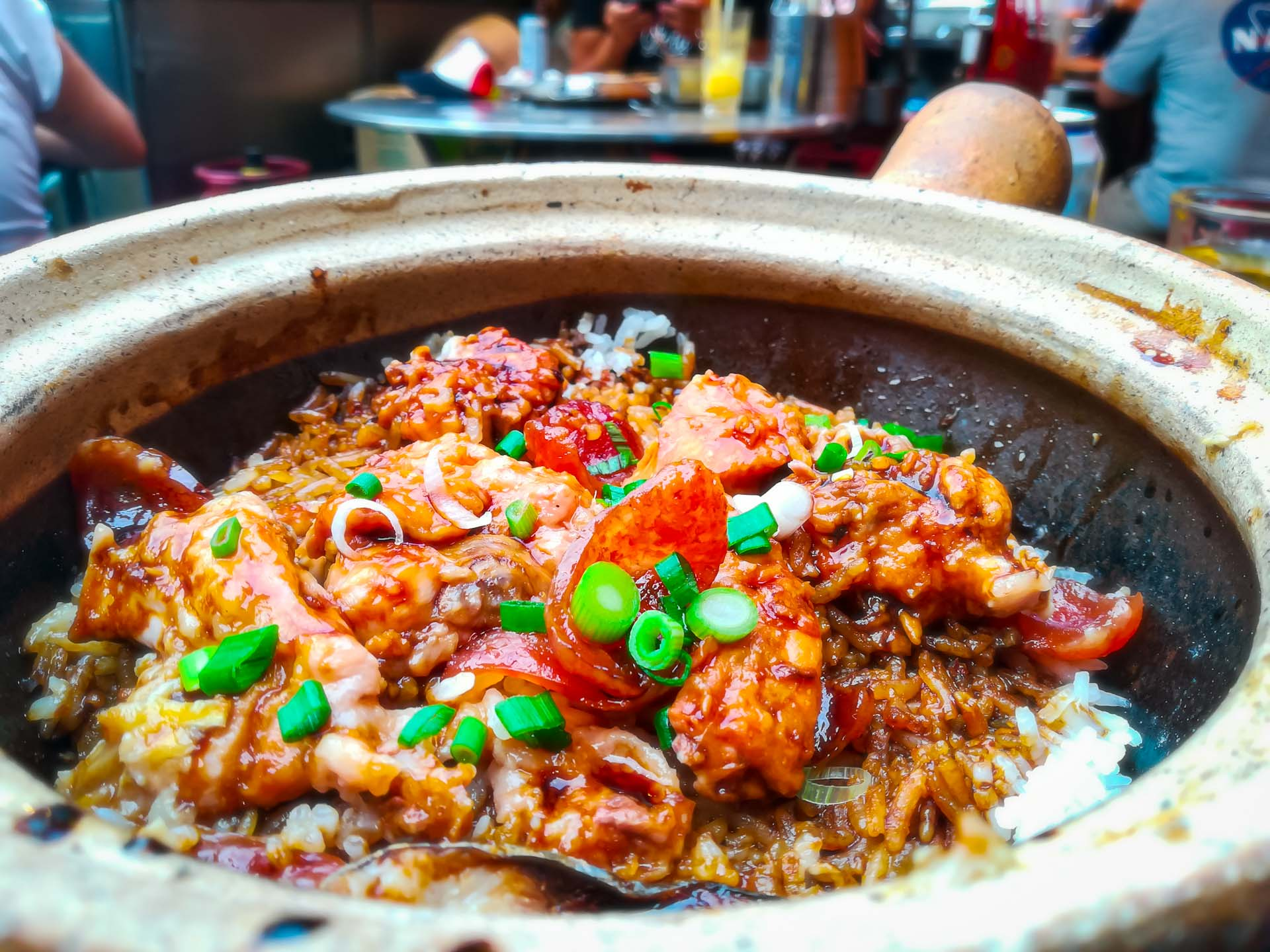 Claypot Chicken Rice with Salted Fish on Jalan Petaling