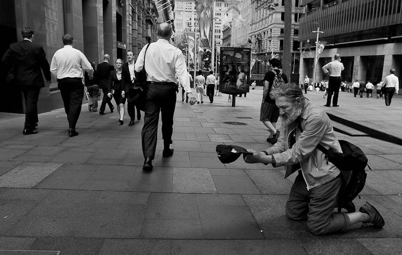 To give or not to give - For many years now I have struggled with the concept of giving money to beggars. When I was younger I figured that it is useless, since they will only spend it on drugs. As I grew older I thought maybe I just give to those beggars that seem to need money for food, and not for drugs. These days I don't give a fuck. I only give....