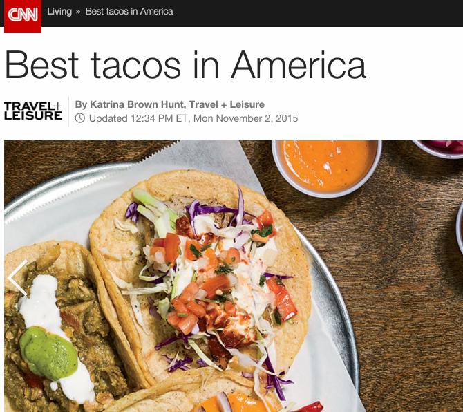 CNN: Best Tacos in America 2015