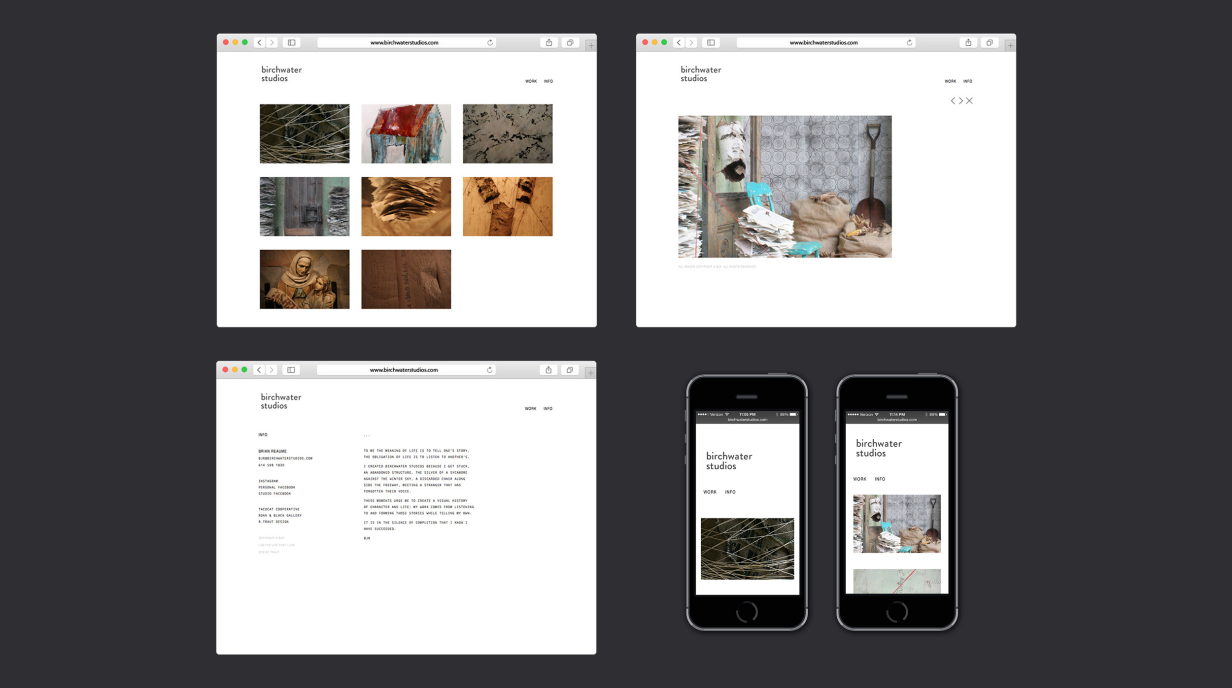 Birchwater Studios: Website & Photography