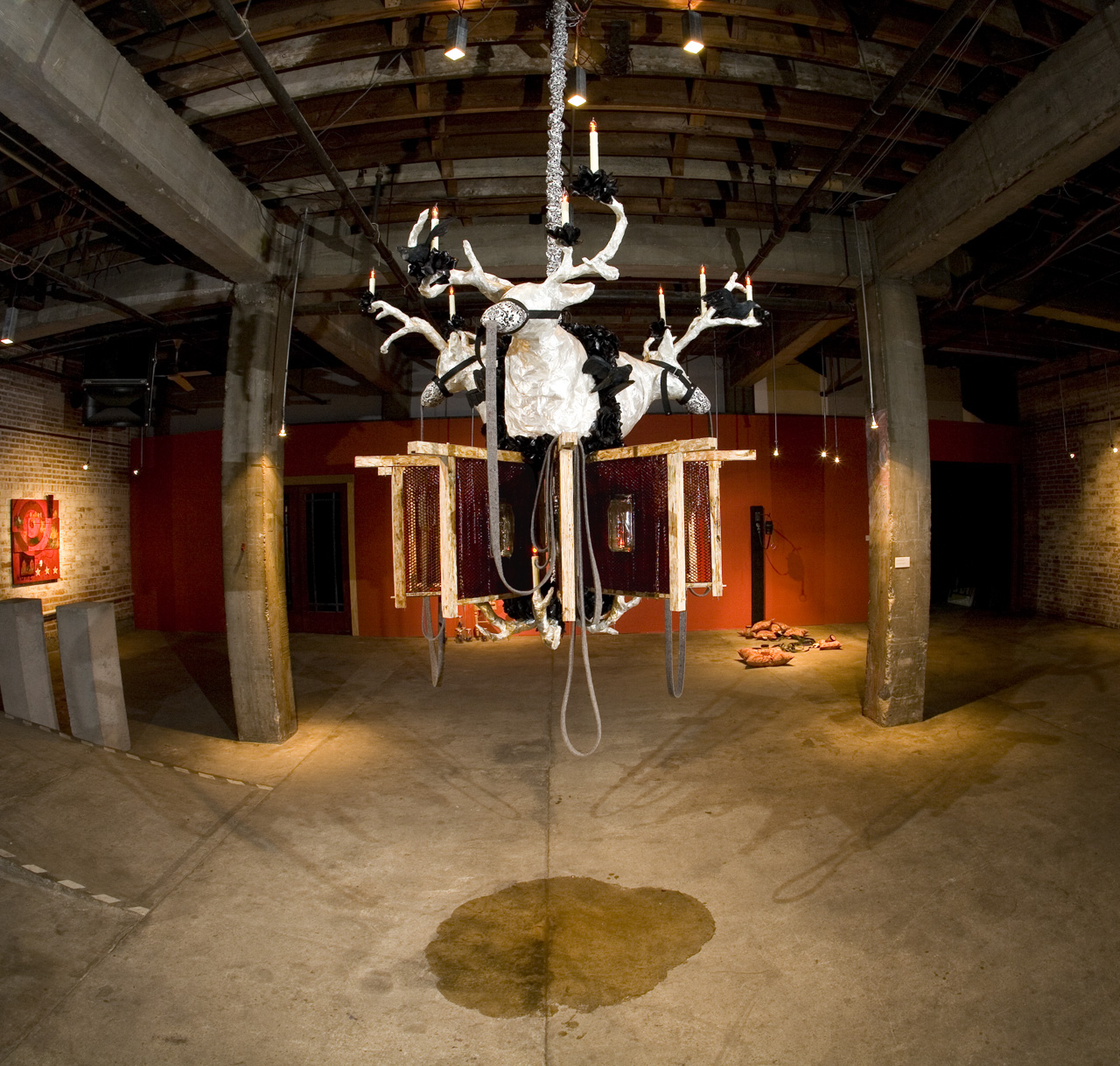 Chandelier with Buck and Hives