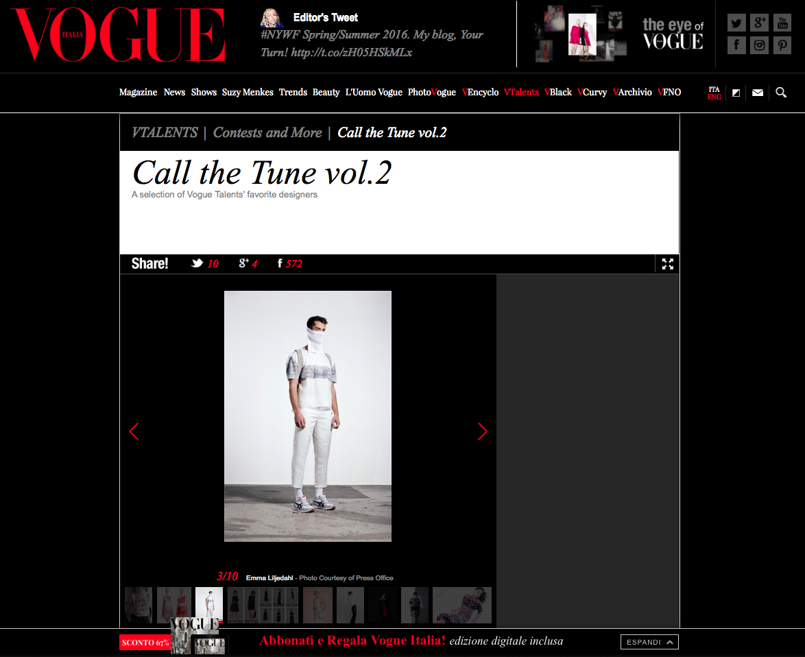 Top 10 at Vogue.it Talents - Call the tune vol. 2