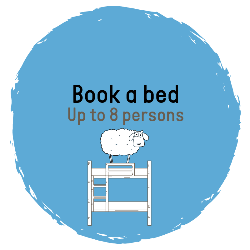 Book at bed at Sleep in Heaven