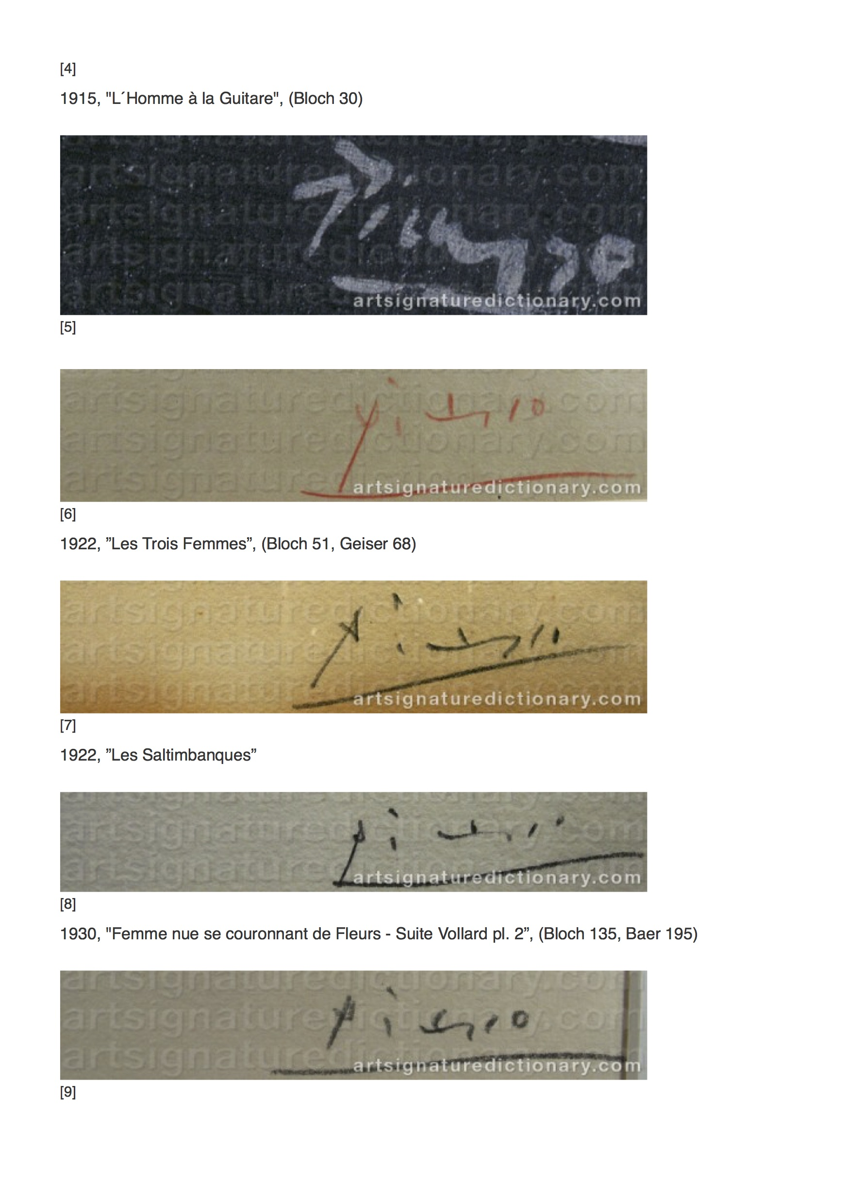 PICASSO, Pablo _ Artist's signatures and monograms, biographies and prices by Art Signature Dictionary2.jpg