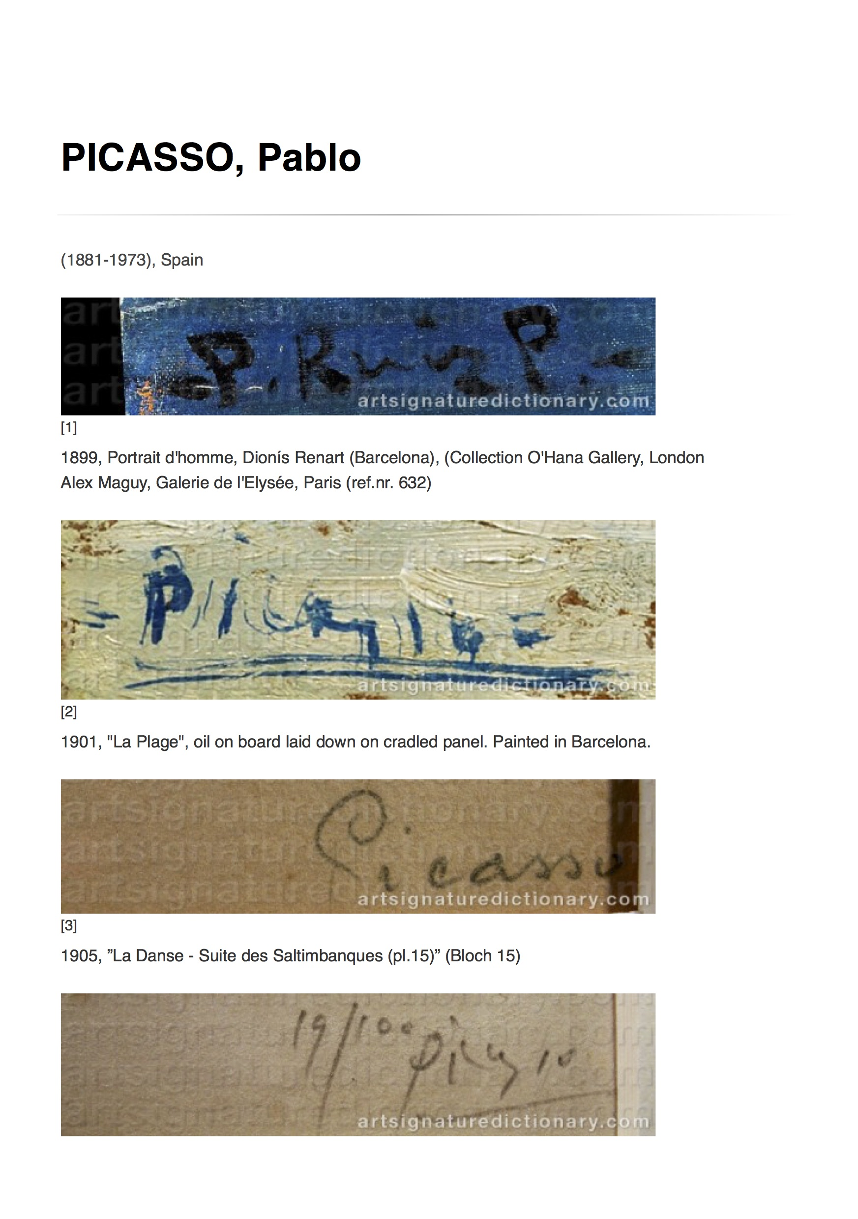 PICASSO, Pablo _ Artist's signatures and monograms, biographies and prices by Art Signature Dictionary.jpg