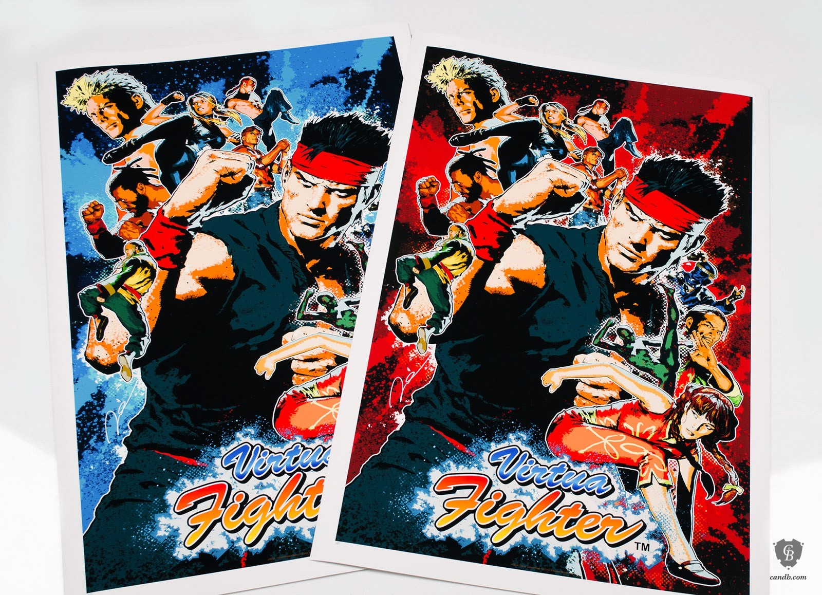 Cook & Becker - Sega Virtua Fighter Art