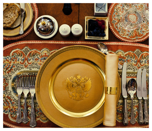 """Putin's Table set"", from the serie Imeprium. 2012 ©Davide Monteleone."