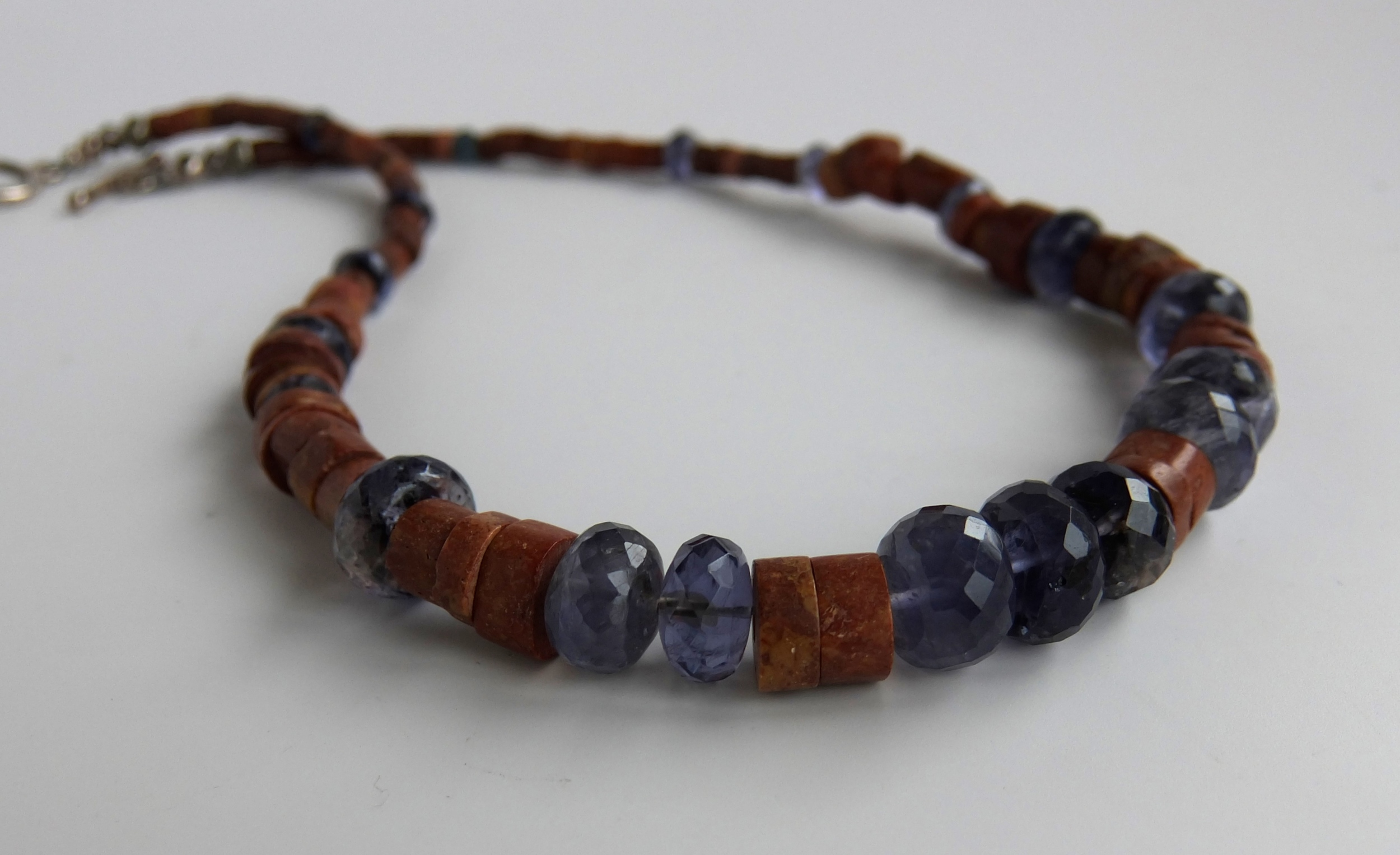 Iolite and Bauxite Necklace