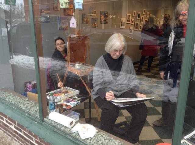 Artists in the Window