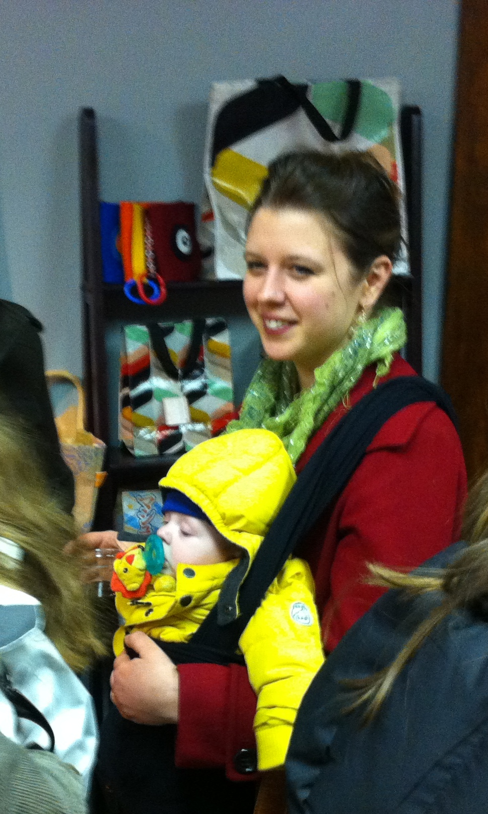 Augustina Droze and baby.