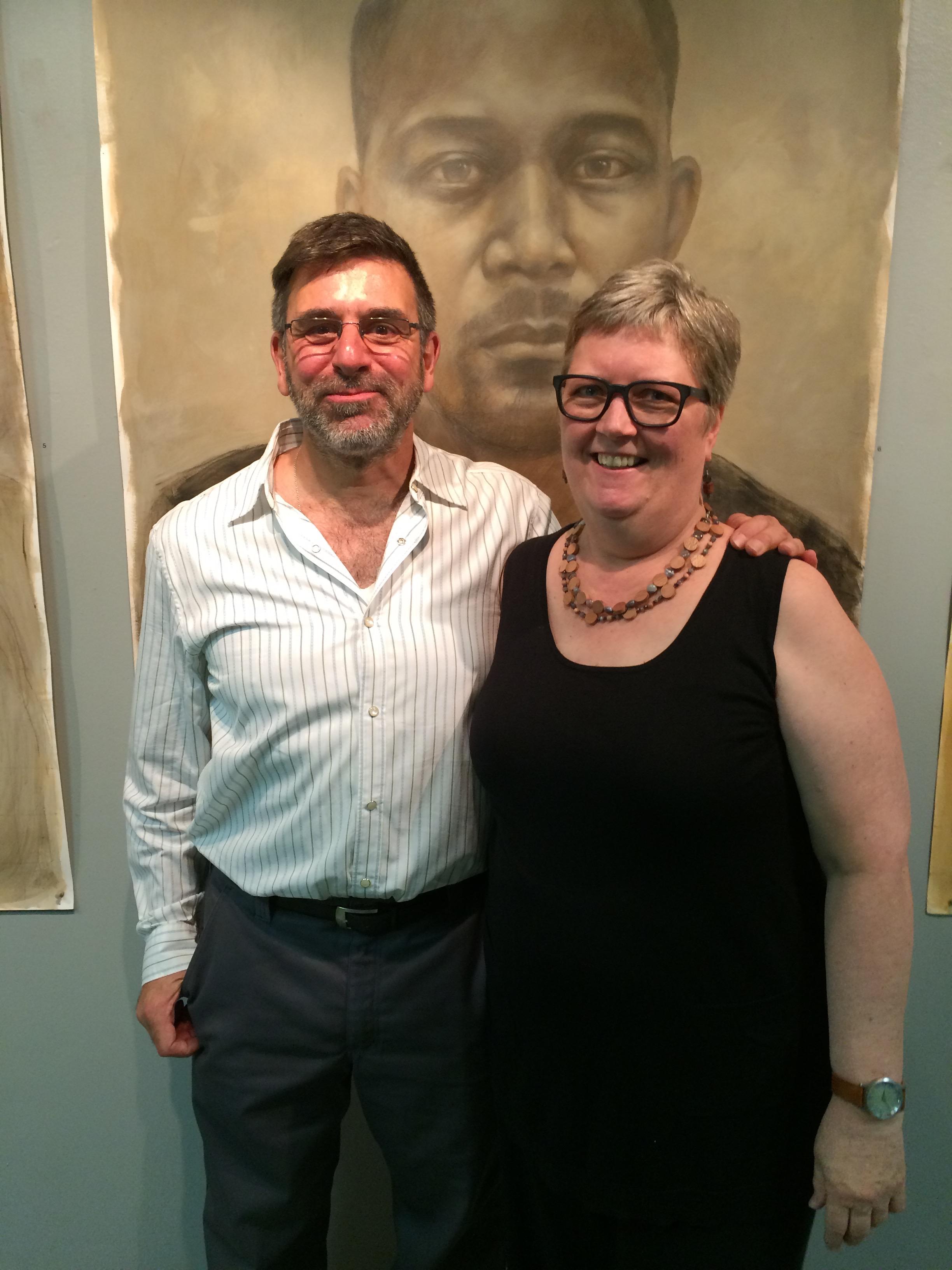 Joe Radoccia with Studio Hart owner Barbara Hart