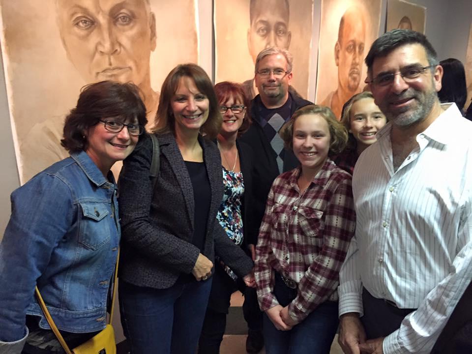 Joe Radoccia with Dianna Barton, Tracy Oddo Teepell, Patti Oddo-Simme and Steve Simme.