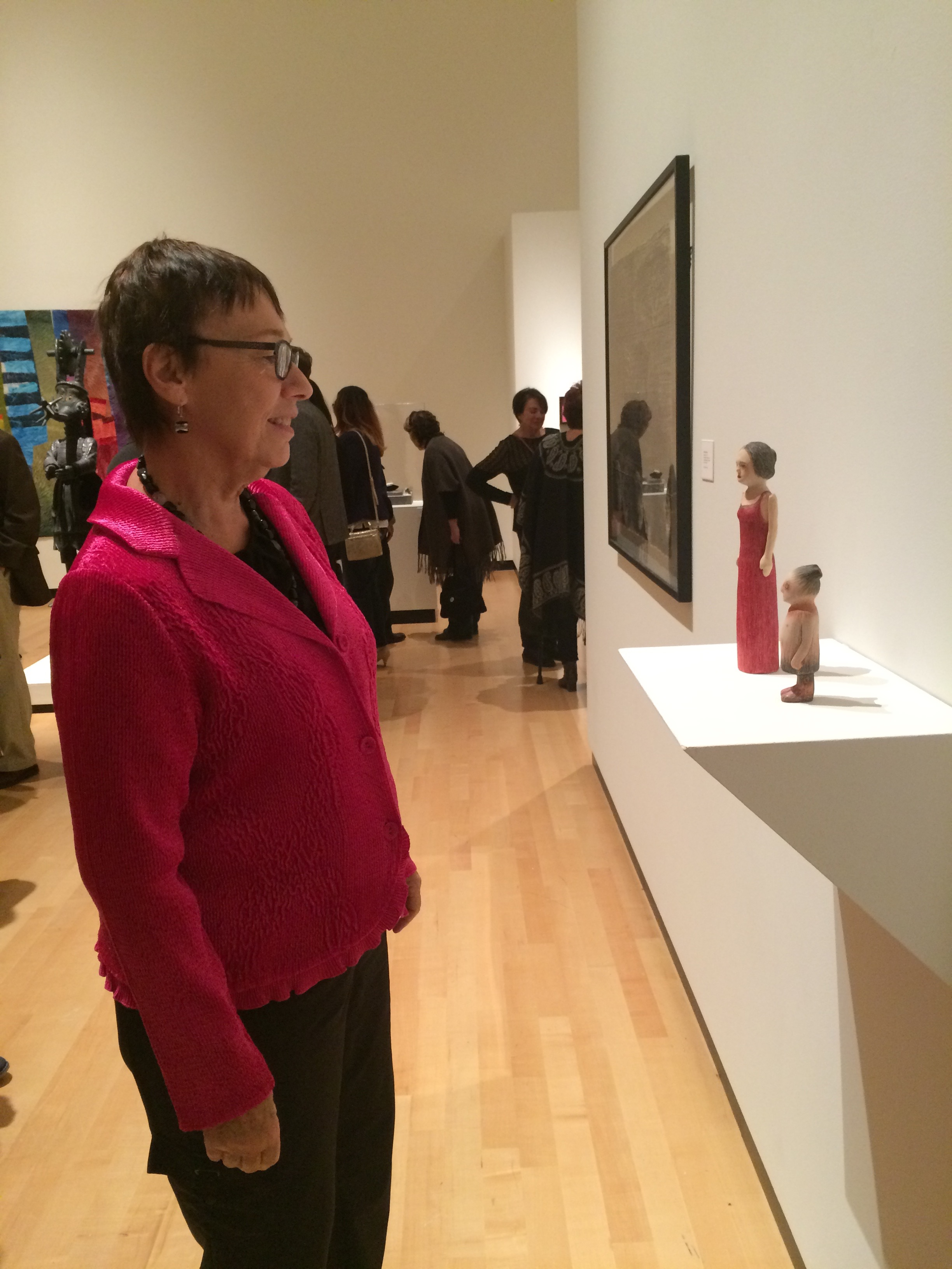 My figures are viewed by Joan Gunther
