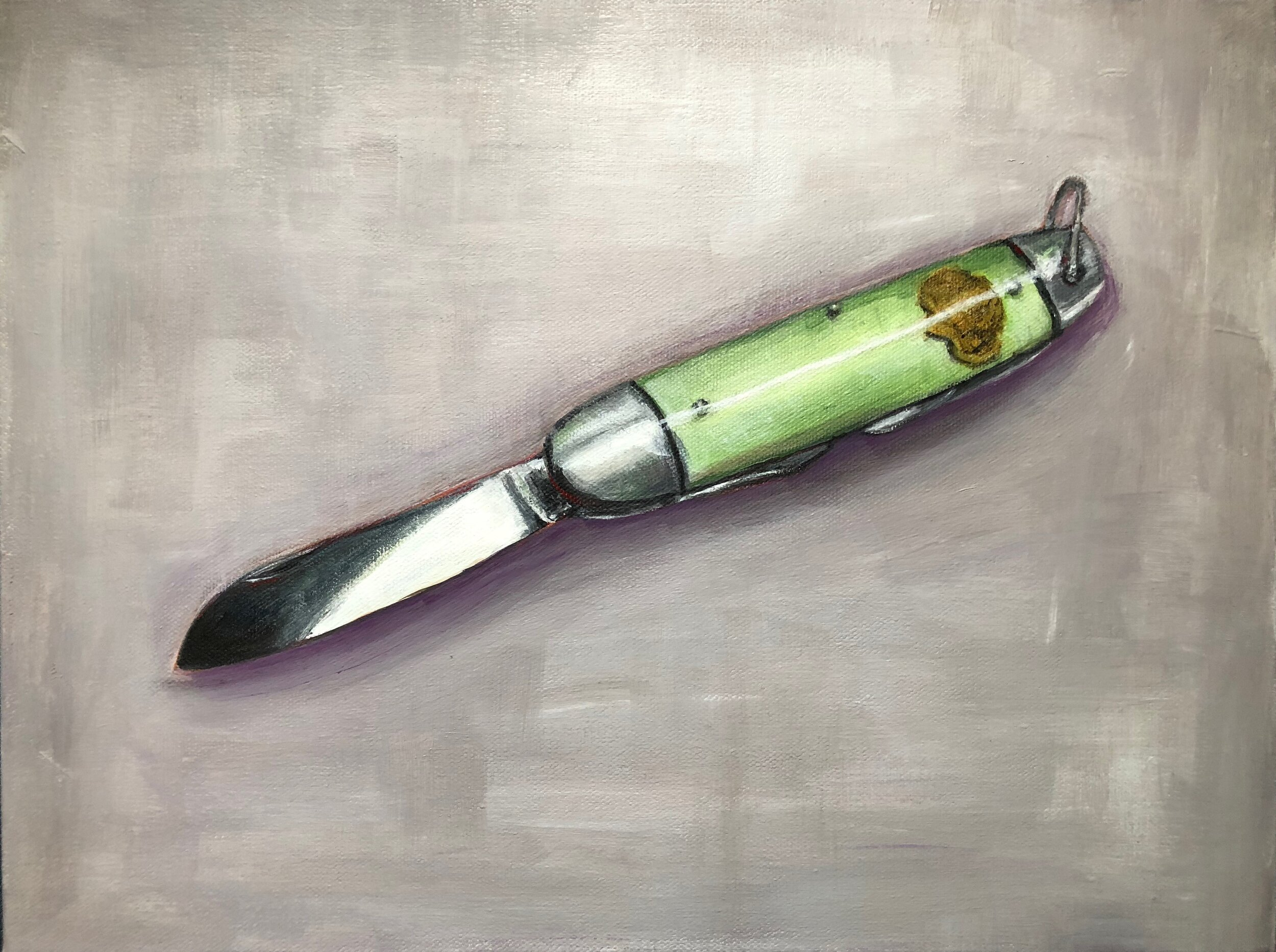 Girl Scout Knife, oil on canvas, 2017