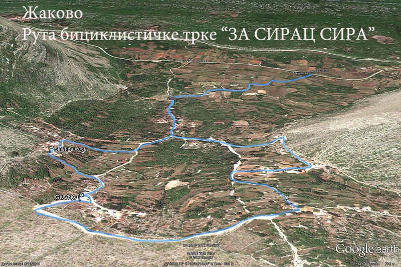 Ruta trke kroz Žakovo