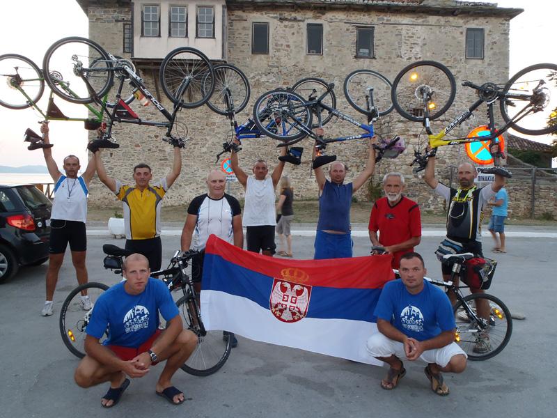 Бициклисти на циљу- лука Уранополис 2011