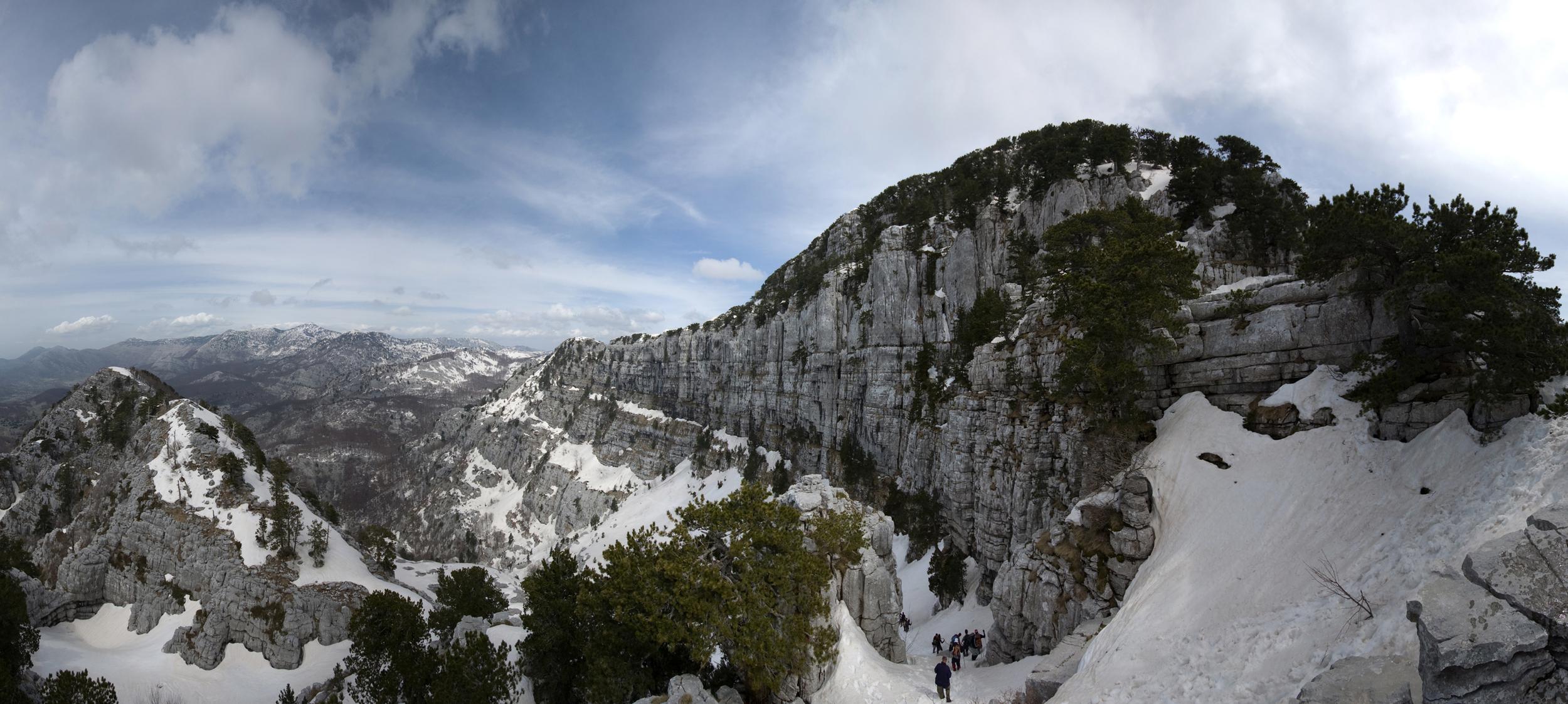 """""""Subra – najveća stijena Orjena"""",  autorska prava © 2009 Slavenko Vukasović"""