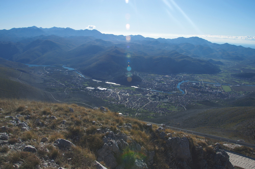 Pogled na Trebinje sa vrha Leotara