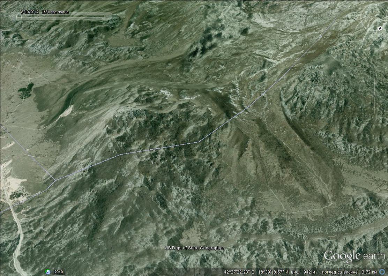 Područje više Dragalja i Grahova, krajevi glečera sa Bijele gore