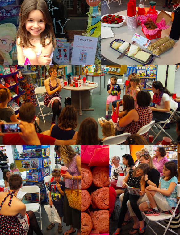 Book release party at Hooray for Books! in Alexandria, VA (May)