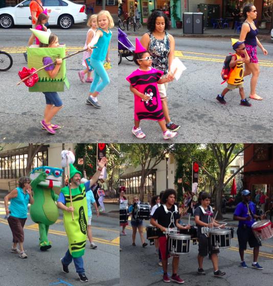 Children's Parade at the Decatur Book Festival in Decatur, GA (September)