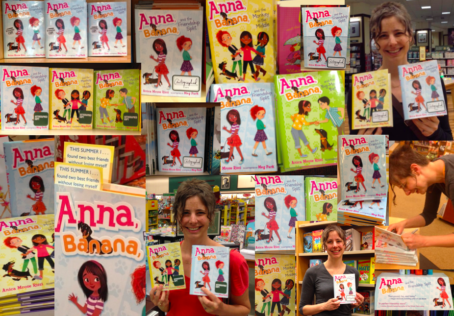 Autographed copies of the Anna, Banana books on display in bookstores throughout New York City and in Princeton, NJ,Decatur, GA,and Waterbury, CT (May-September)