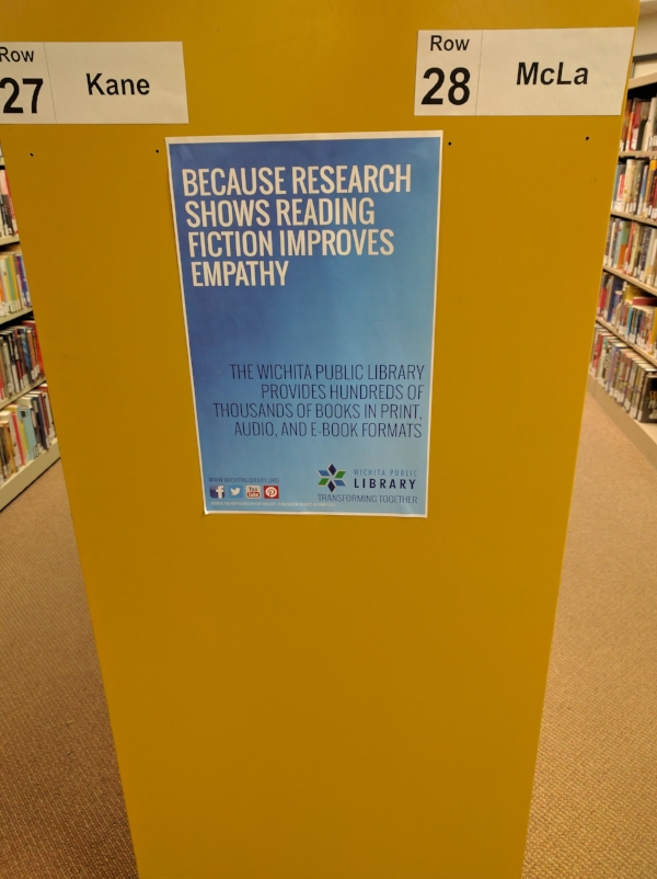 Sighted at my public library recently.