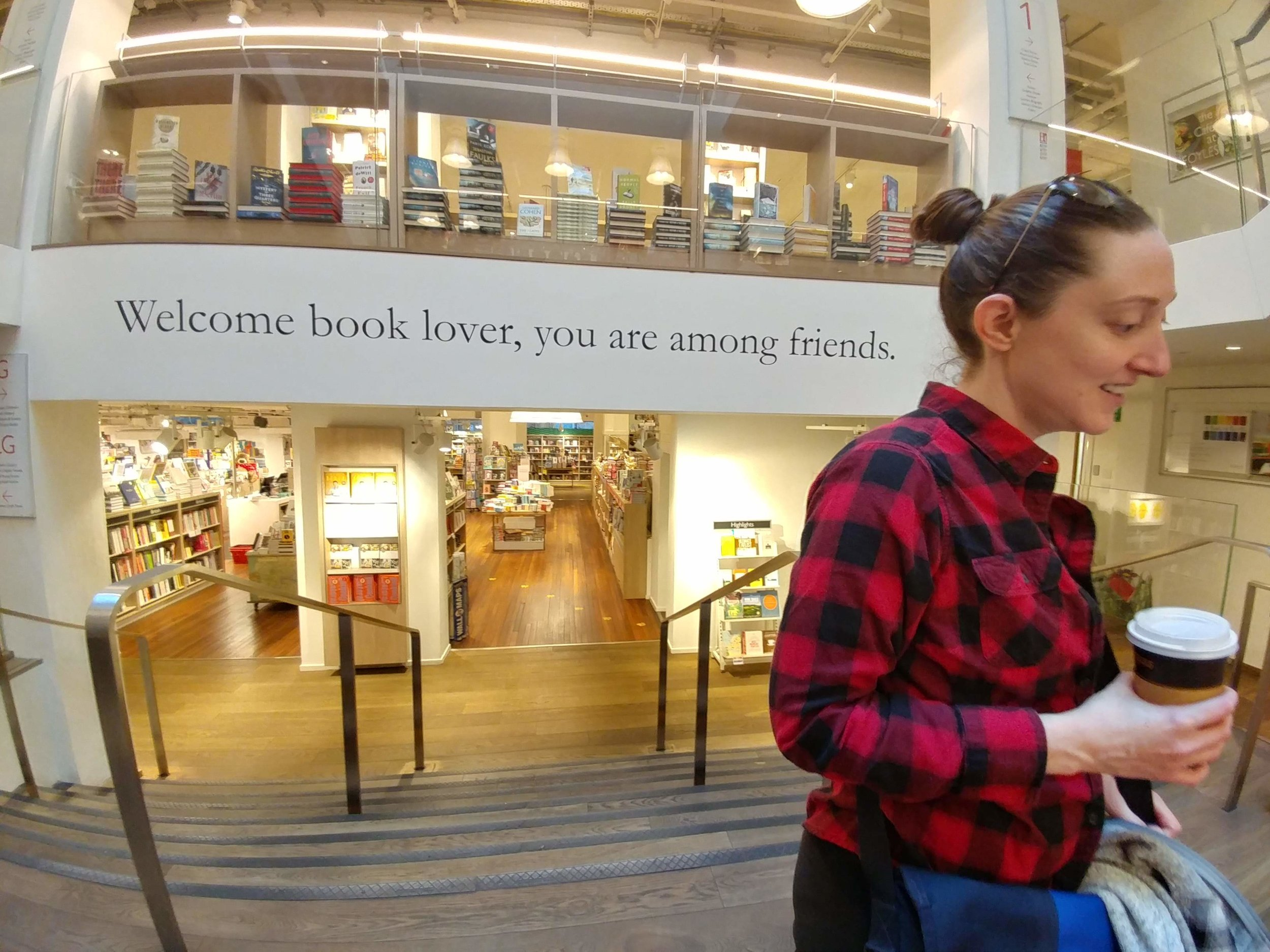 At Foyles bookshop in London. Photo by Adam, who is awesome, and in no way requested this shout-out.