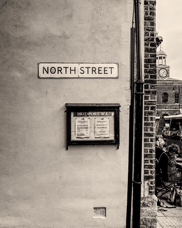 Meet me at the corner.... #bridport #inpursuit #wednesday #blackandwhitephotography #northstreet #rhcp