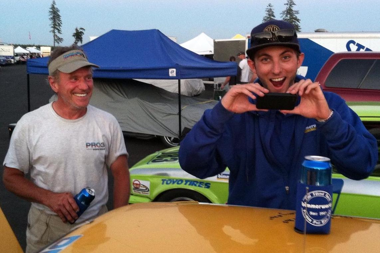 John Capestro-Dubets & Jim Cissell (John signed Jim's car!)