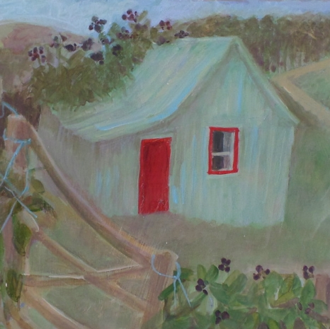 """Tessa Newcomb oil  """"Welsh shed"""""""