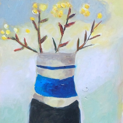 """Tessa Newcomb oil   """"From the Plot"""""""