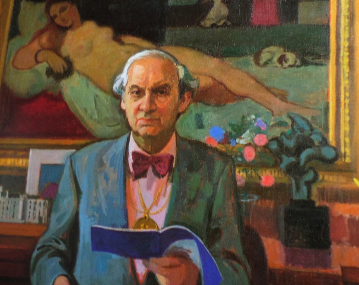 Alberto Morrocco painting of Anthony Wheeler