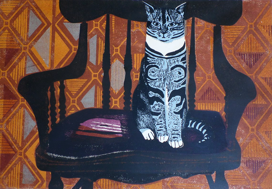 Sheila Robinson artist lino cut for sale