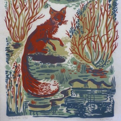 Fox Lino cut
