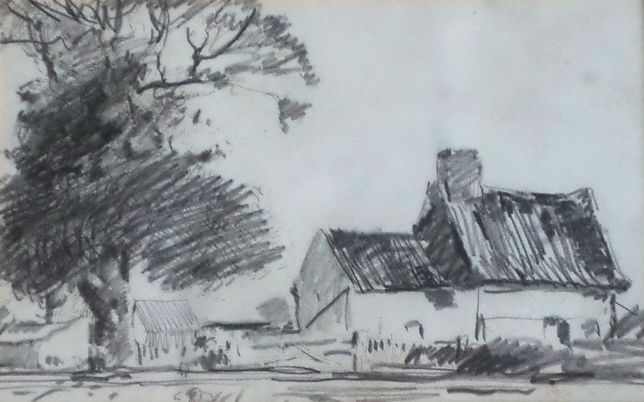 harry becker sketch over etching