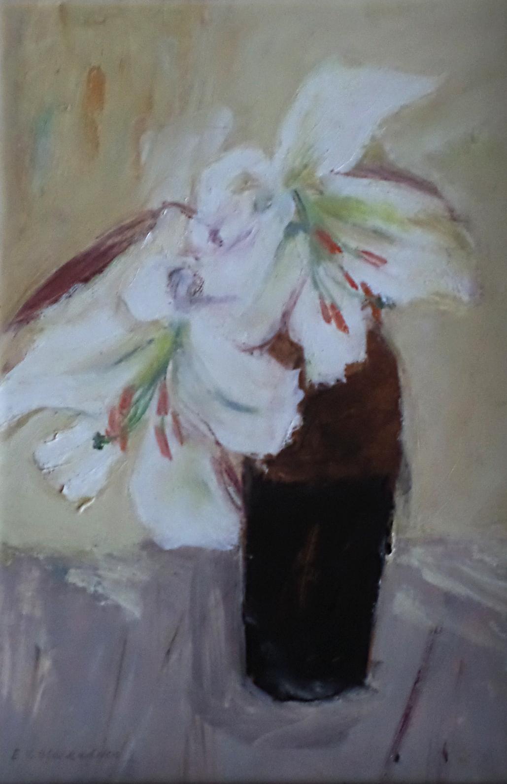 """Elizabeth Blackadder watercolour """"Poppies"""""""