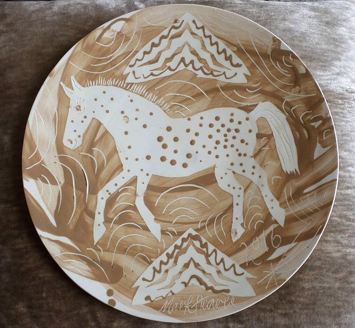 Mark Hearld Ceramic plate - 'Circus Horse'