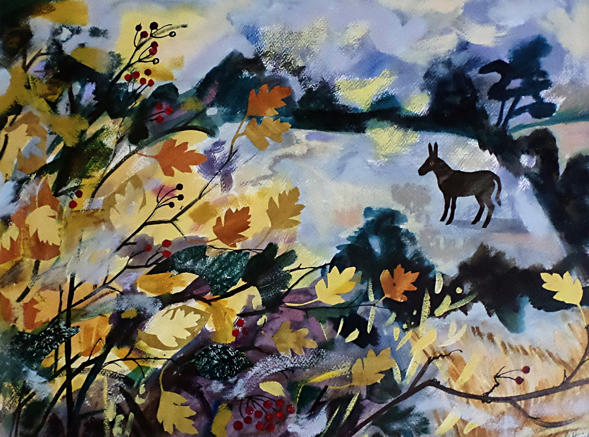Mark Hearld Collage 'Autumn Hedgerow'
