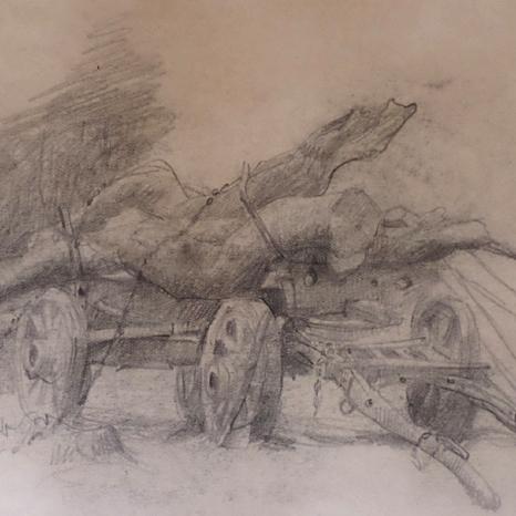 SOLD - Logging Cart