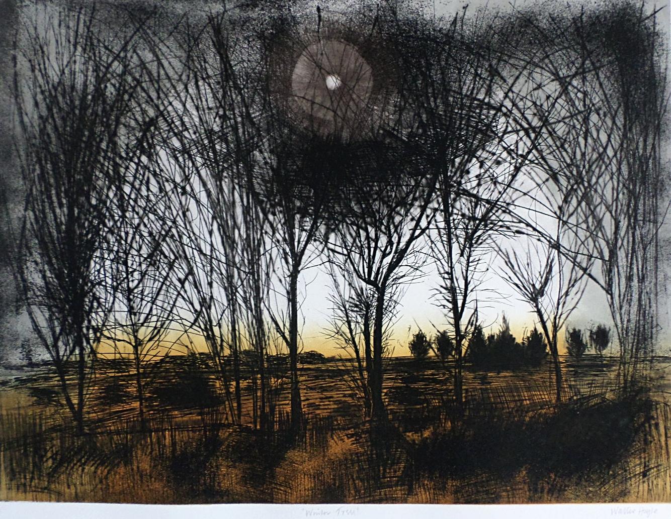 Winter Trees - Etching & Aquatint