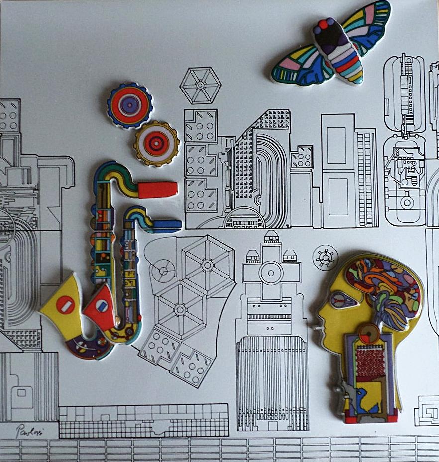 Eduardo Paolozzi ceramic tottenham court road
