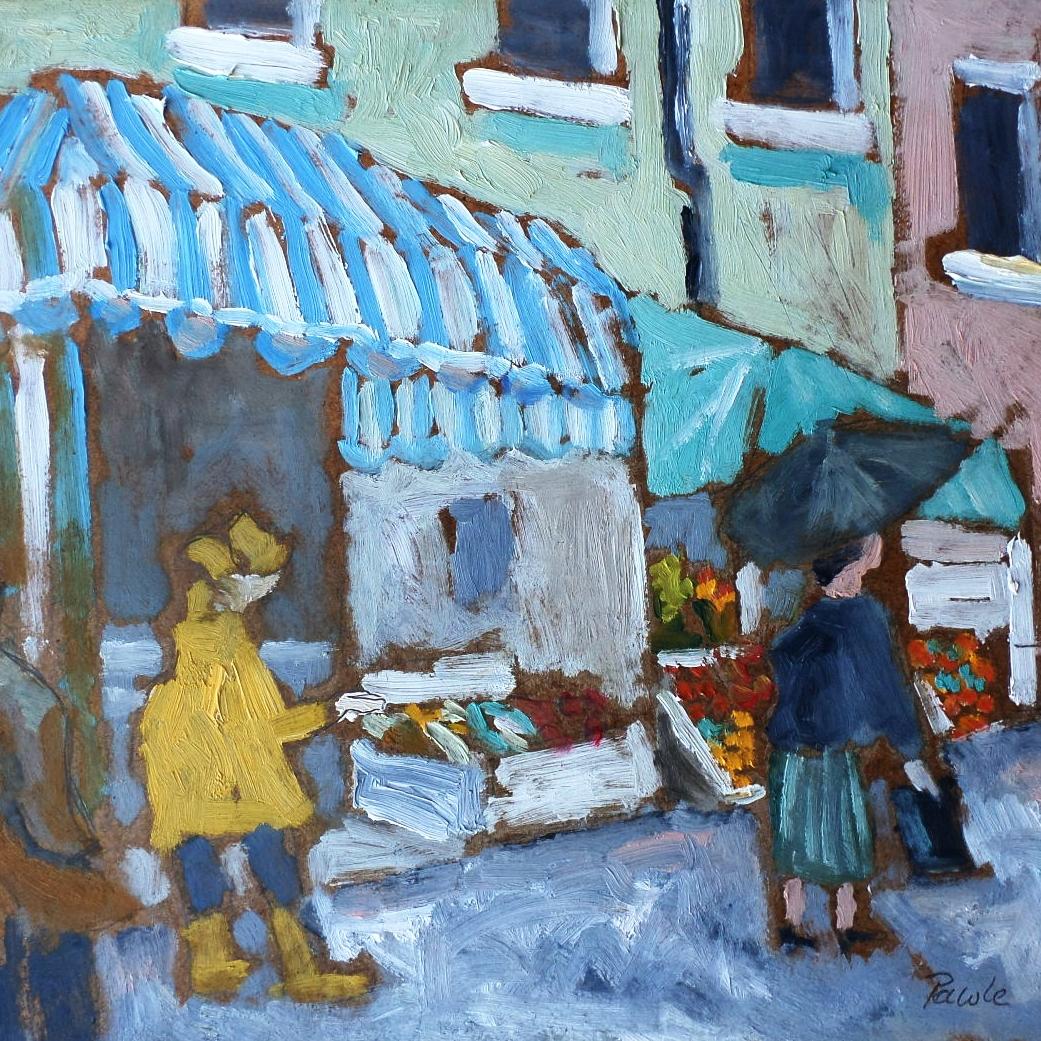NEW! - Rainy market day