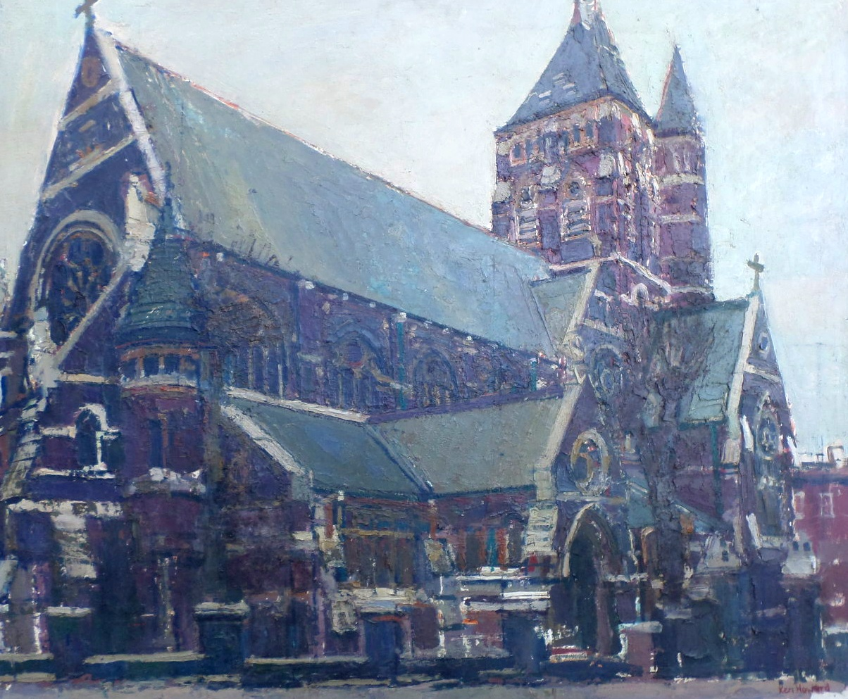 Ken Howard painting St Stephen's Hampstead