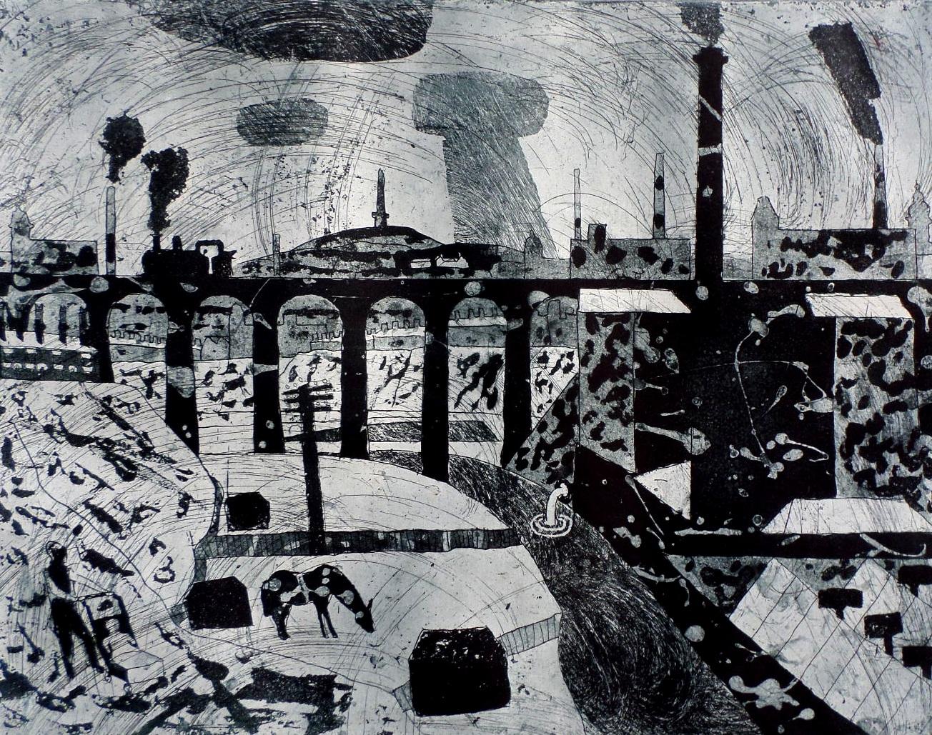 Julian Trevelyan Bolton etching for sale