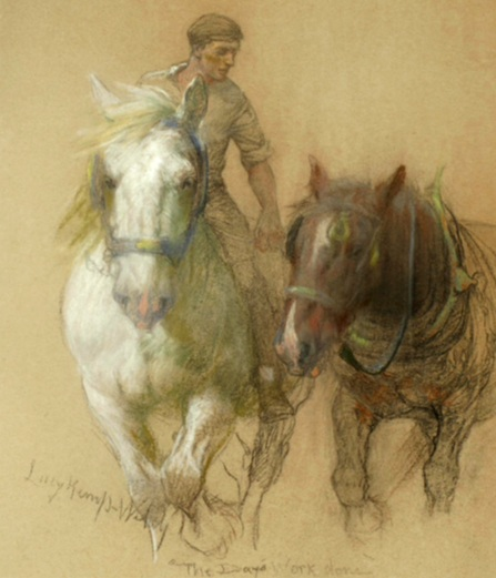 Lucy Kemp Welch heavy horses