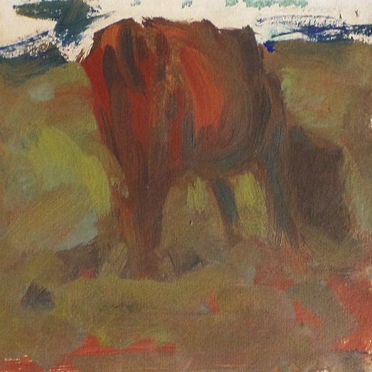 Cow Grazing - Oil